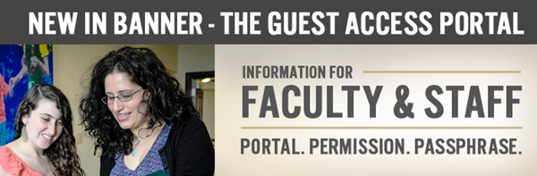 New In Banner - The Guest Access Portal